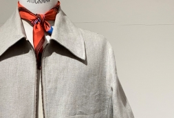 column 『服の向こう側』 vol.56 / ring jacket napoli -irish linen blouson